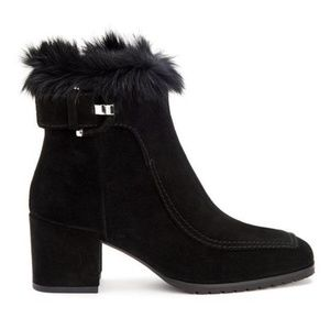 Aquatalia Charlize Suede With Real Fur on Top